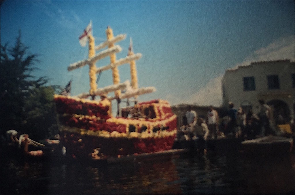 A previous float from the 1970s by Depot Hill Athletic Society